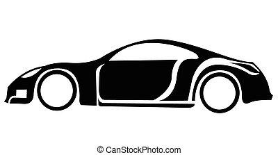 car, símbolo, desporto