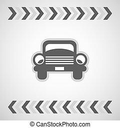 car, símbolo, vetorial, básico