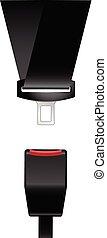 Car safety seat belt icon - catch, latch