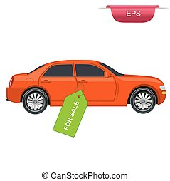 Car sale concept, graphic design