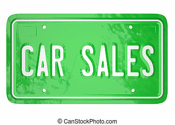 Car Sales Automotive Vehicle Manufacturer Selling Customers License Plate