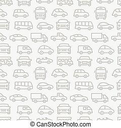 car, seamless, padrão