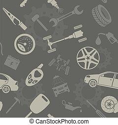 car, seamless, serviço, padrões