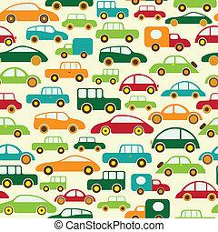 Car Seamless Wallpaper Vector Illustration