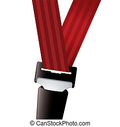 Car seat belt sporty - Car seat belt clipped in with red...