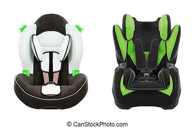 car seat for children isolated