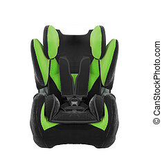 car seat for children on white background