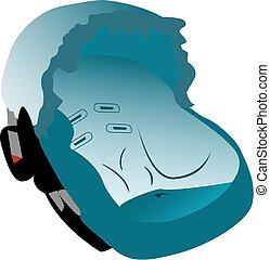 Car seat illustration