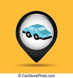 car sedan blue icon design