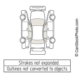 car sedan drawing outlines not converted to objects - car...