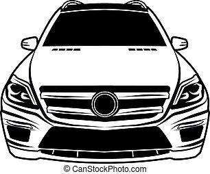 car  sedan front viev