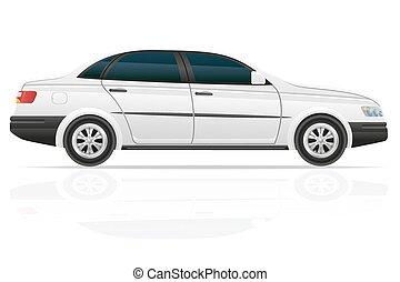car sedan vector illustration isolated on white background