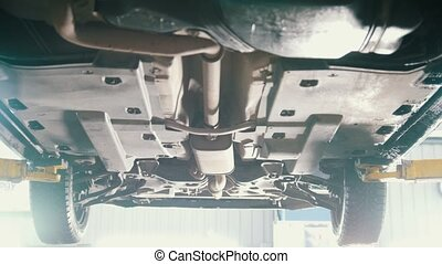 Car service - bottom of the car - the suspension of SUV,...