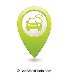 Car service. Car & gas station icon