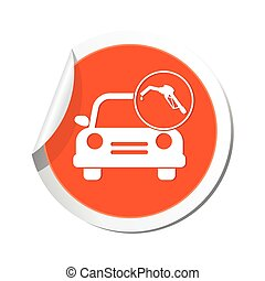 Car with gas station icon