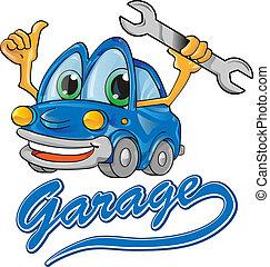 car service cartoon isolate