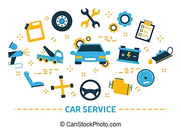 Car service concept. Idea of auto repair and diagnostic. ...