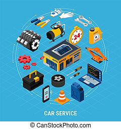 Car Service Concept Illusrtation