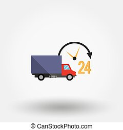 Car service. Delivery 24 hours a day.