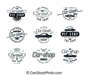 Car service emblems