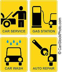 Car service, fuel station, auto rep
