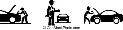 car service icon on white background