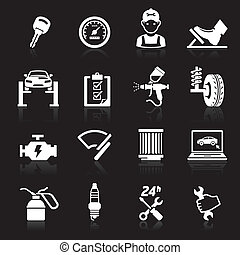 Car service icon set.