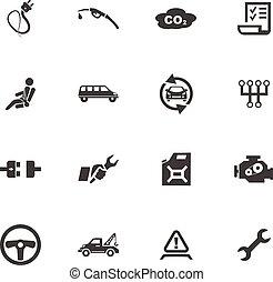 Car service icon set - Car service maintenance icons set for...