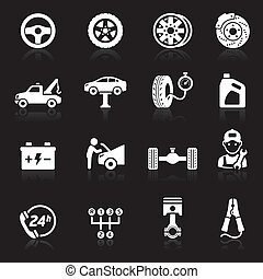 Car service icon set1.
