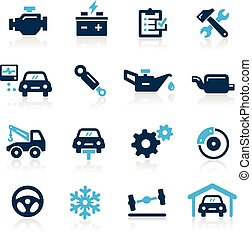 Car Service Icons -- Azure Series