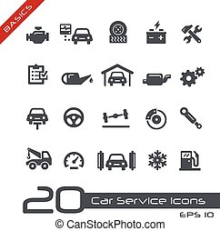 Car Service Icons -- Basics - Vector icons for your web or...