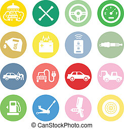 Car service icons