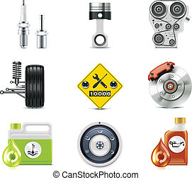 Car service icons. P.3 - Set of the car repair and ...
