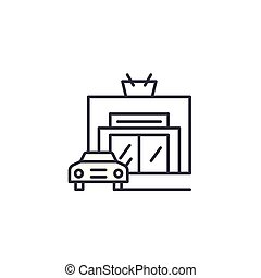 Car service linear icon concept. Car service line vector sign, symbol, illustration.