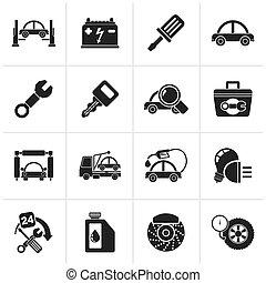 Car service maintenance icons
