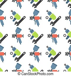 Car service parts flat vector illustration auto mechanic repair of machines seamless pattern background automobile equipment