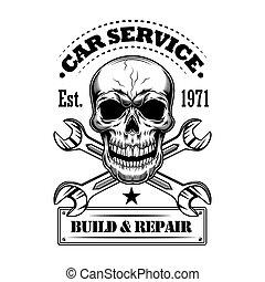 Car service vector illustration
