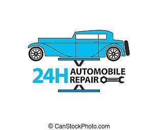 Car service,Auto mechanic working in garage, Repair service