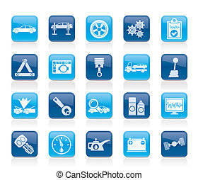 car services icons - car services and transportation icons...