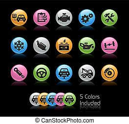 Car Services Icons - Gelcolor Series