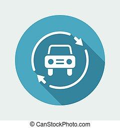 Car services renew icon