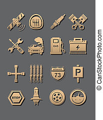 car set of icons