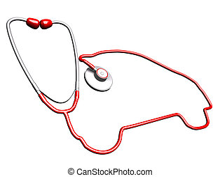 Car-shaped stethoscope - Car-shaped stethoscope. Car...
