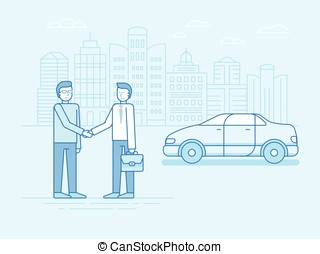 Car sharing concept - new model of car rental service