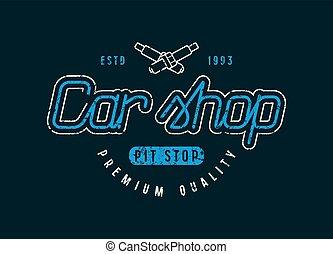 Car shop emblem