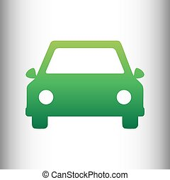 Car sign. Green gradient icon