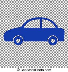Car Sign Illustration Blue Icon On Transparent Background