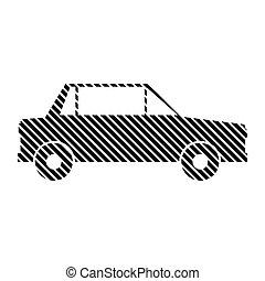 Car sign on white. - Car sign on white background. Vector...