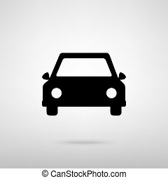 Car sign. Vector illustration - Car sign. Black with shadow...