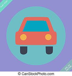 Car sign - vector illustration
